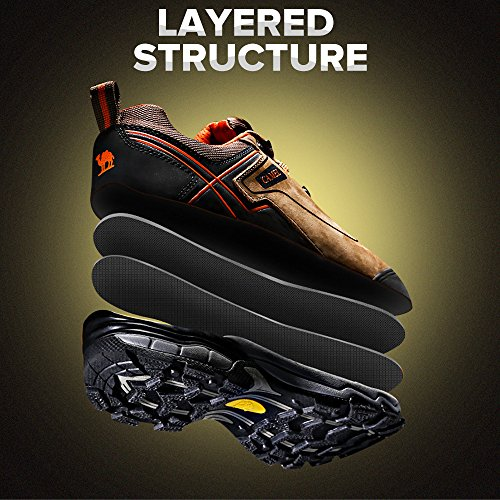 Camel Lightweight Hiking Shoes for Men Shockproof Non-Slip Outdoor Breathable Low Snow Leather Hiking Walking Shoes Khaki free shipping fashion Style sast sale online dSdhwjNF