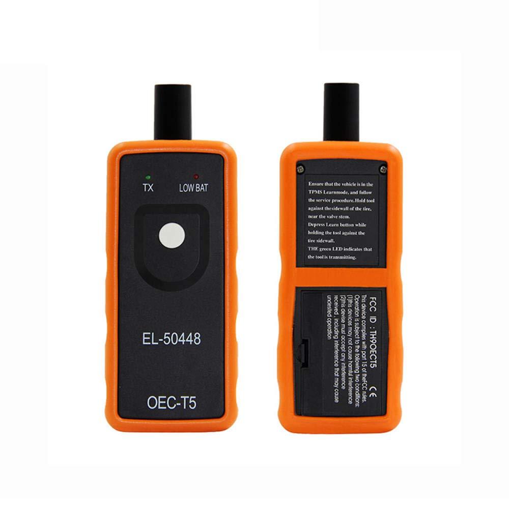 ReFaXi Ultimate EL-50448 Sensor De Monitoreo De Presi/ón De Neum/áticos De Coche TPMS Re-Learning GM//Ford Multiplex Series Herramienta De Activaci/ón De Reinicio De Veh/ículo Naranja + Negro