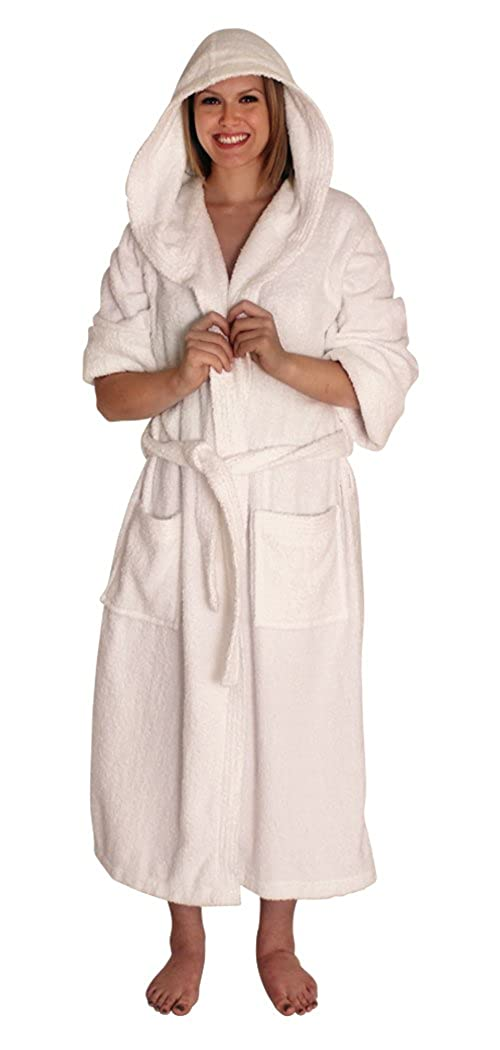 8d4c0e705f NDK New York Women s and Men s Hooded Terry Cloth Bath Robe