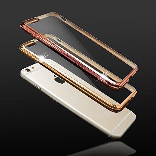 Mobilefox farbiger Rand Schutzhülle TPU Case Apple iPhone 7 Rosa