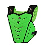 RIDBIKER Motorcycle Armor Vest Motorcycle Riding Chest Armor Back Protector Armor Motocross Off-Road Racing Vest,Green