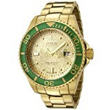Invicta Men's 6884 Reserve Collection Automatic Diamond Accented 18k Gold-Plated Watch