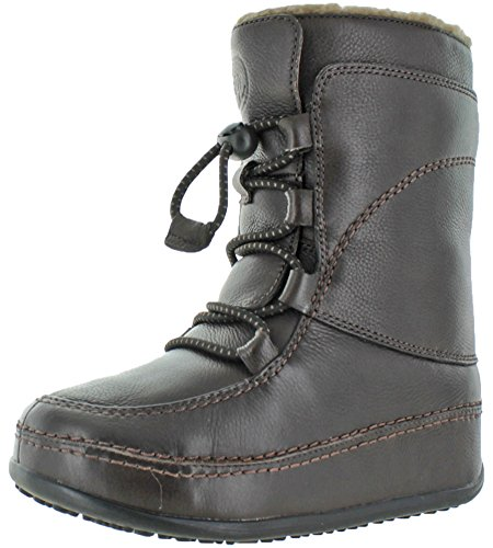 FitFlop Women's Mukluk Moc Lace Up Leather Boot,Chocolate...