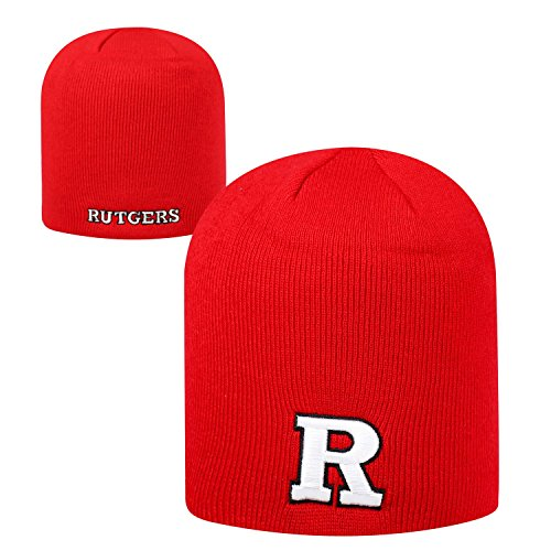 - Top of the World Rutgers Scarlet Knights Official NCAA Uncuffed Knit Classic Beanie Stocking Stretch Sock Hat Cap 927909