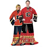 NHL Calgary Flames Captain Comfy Throw - The Blanket With Sleeves