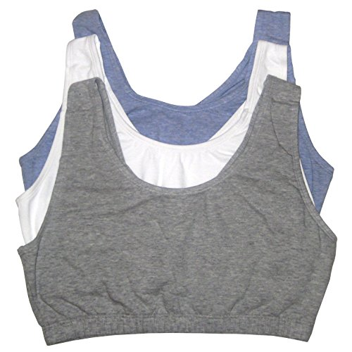 Image of Fruit of the Loom Womens Tank Style Sports Bra, Grey