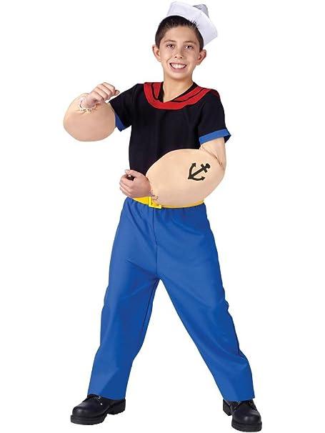 Fun World Boys Licensed Popeye Costume Multicolor Small 4-6  sc 1 st  Amazon.com & Amazon.com: Popeye the Sailor Man Kids Costume: Toys u0026 Games