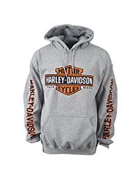 Harley-Davidson Bar & Shield Pullover Hoodie - Eagle Custom Overseas Tour XL
