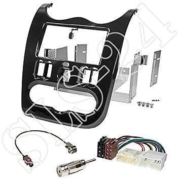 Adapter für DACIA Dokker Duster Lodgy Set Autoradio Radioblende Einbaurahmen