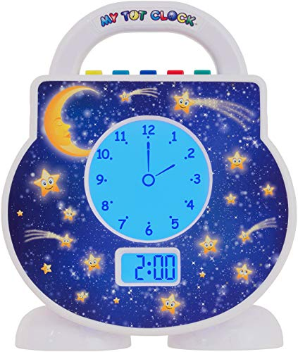 (My Tot Clock My Toddler Clock, White )