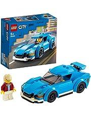 LEGO 60285 City Sportwagen met Afneembaar Dak en Poppetje, Speelgoedauto voor Kinderen van 5 Jaar, Cadeau voor Jongens en Meisjes