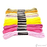 RayLineDo Embroidery Thread 50 PCS Skeins Stranded