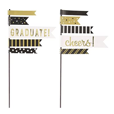 Pennant Flag You Did It! Graduation Cake Toppers, Party Accessory, 2 Ct.: Toys & Games