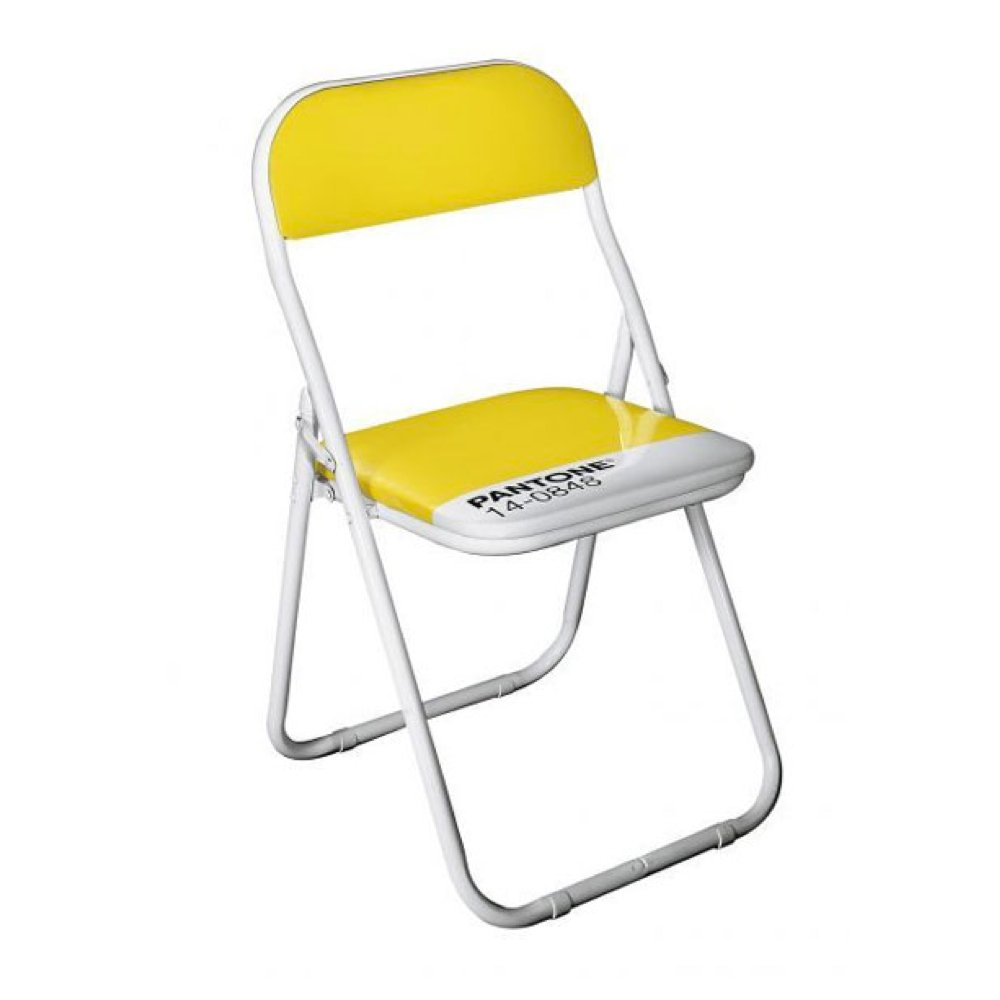 Amazon com  Pantone Chair Mimosa 14 0848  Kitchen   Dining. Pantone Folding Chairs For Sale. Home Design Ideas