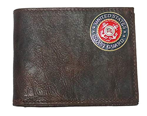 United Proudly Leather made fold Guard Flip in the Chocolate States ID Custom Wallet Coast with USA Harness Bi BxSqnw