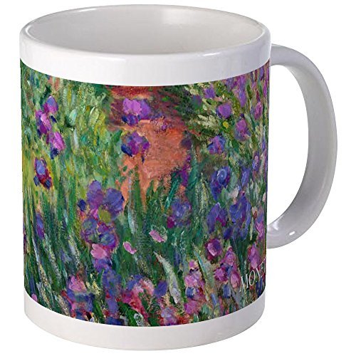 Small Iris Garden - CafePress - Monet Iris Garden Wraparound Mug - Unique Coffee Mug, Coffee Cup