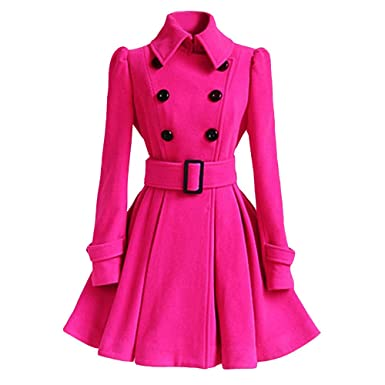 54cca20baebe6 Womens Coats, Winter Coats Women, Faux Shearling Coat, Warm Outwear Jackets  for Women Slim Elegant Long Trench Overcoat at Amazon Women's Coats Shop