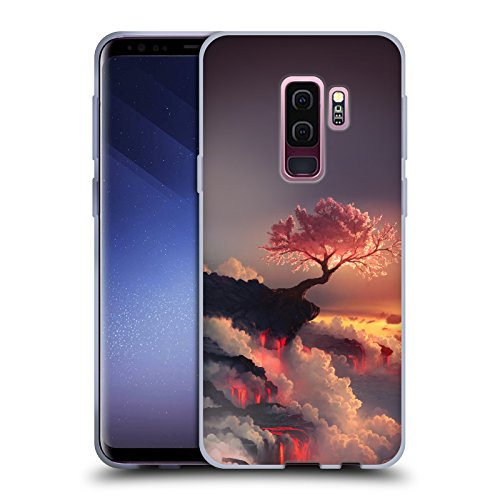 Official Daniel Conway Scorched Earth Cherry Blossoms Soft Gel Case for Samsung Galaxy S9+ / S9 Plus (Scorched Cherry)