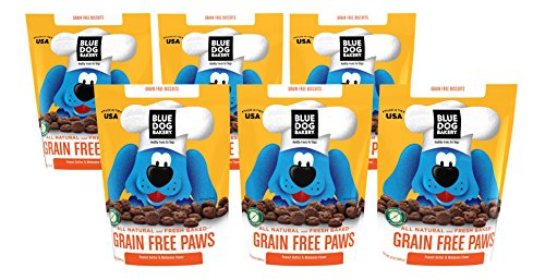 Dog Polka Bakery (Blue Dog Bakery | Grain-Free Dog Biscuits | All-Natural | Peanut Butter & Molasses | 24oz (Pack of 6))