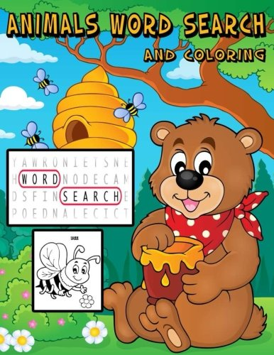 Download Animals Word Search And Coloring: Animals Word  Search For Age 3-5, 4-12 Simple Word And Coloring With Learning Names Of Animals For Your Kids pdf epub