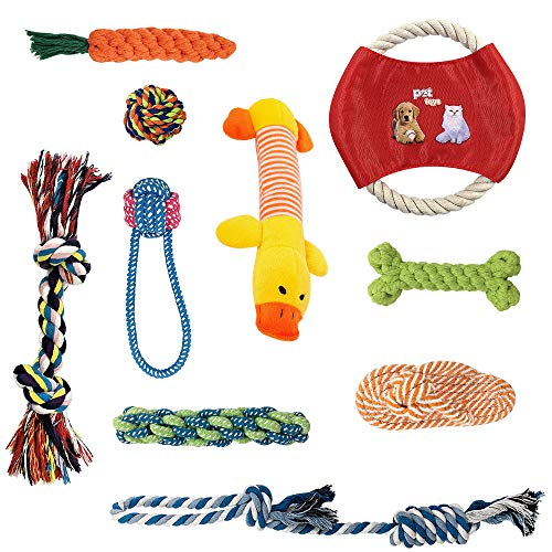 AIRGOOD Dog Rope Toys Pet Puppy Chew Teething Toy Set Small to Medium Dogs(10 Pack)