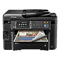 Impresora de inyección de tinta todo en uno inalámbrica a color Epson WorkForce WF-3640 con escáner y copiadora (embalaje de comercio electrónico)