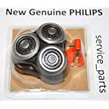 Philips Norelco RQ12+ ( RQ12 Plus ) Replacement Head REPLACE YOUR OLD HEAD: SensoTouch 3D Arcitec RQ10 RQ11 SH90/52 9000 Series 1050X 1060X 1250X 1255X 1280X 1290X 9000 8000 7000 5000 +3x Holder Clips
