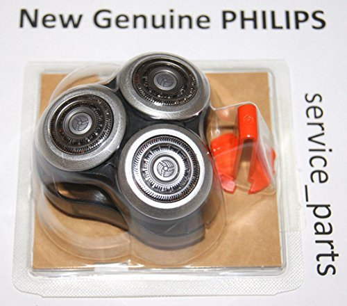 Philips Norelco RQ12+ ( RQ12 Plus ) Replacement Head REPLACE YOUR OLD HEAD: SensoTouch 3D Arcitec RQ10 RQ11 SH90/52 9000 Series 1050X 1060X 1250X 1255X 1280X 1290X 9000 8000 7000 5000 +3x Holder Clips by PHILIPS_SERVICE_PARTS