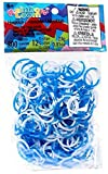 Rainbow Loom 300 Ct. Rubber Band Refill Pack BLUE & WHITE [Includes C-Clips!]