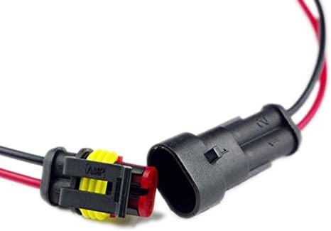 E Support/™ 5 X 3 via Pin kit presa auto auto impermeabile connettore elettrico con del filo AWG