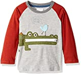 Mud Pie Baby Toddler Boys' Safari Long Sleeve Raglan T-Shirt, Gator, LG/4T-5T
