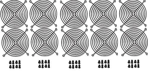 120mm Black Fan Grill / Guard with screws (10 - Grill Fan