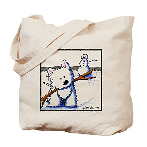 CafePress - Westie One-Arm Bandit - Natural Canvas Tote Bag, Cloth Shopping Bag