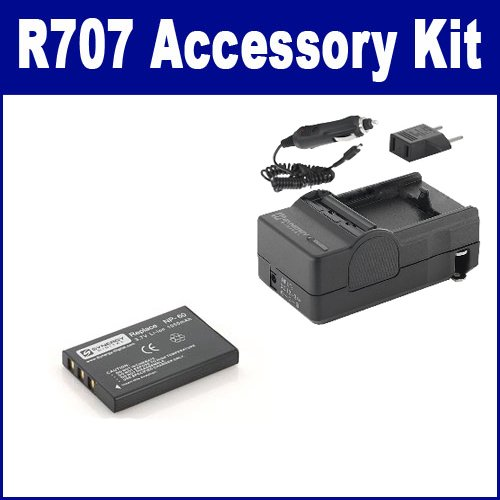HP PhotoSmart R707 Digital Camera Accessory Kit includes: SDM-143 Charger, SDNP60 Battery