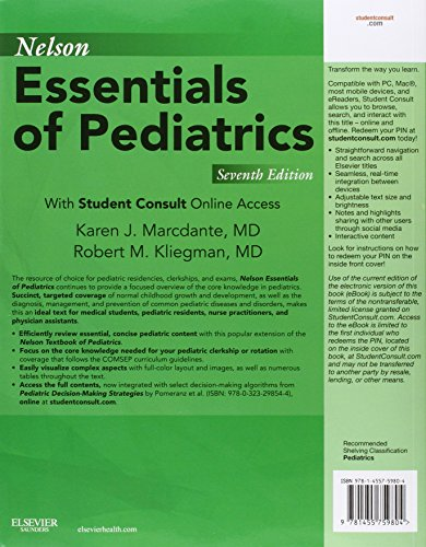 Nelson Essentials of Pediatrics: With STUDENT CONSULT Online Access, 7e - medicalbooks.filipinodoctors.org