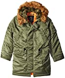 Alpha Industries Big Boys' N-3B Parka Coat, Sage, Small/8