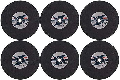 6 Stück Schleifscheibe Ultradünne schwarze Schleifscheibe Harz Schleifschneider Schneidwerkzeug für Edelstahl Eisenprozess(350 x 3 x 25.4mm)
