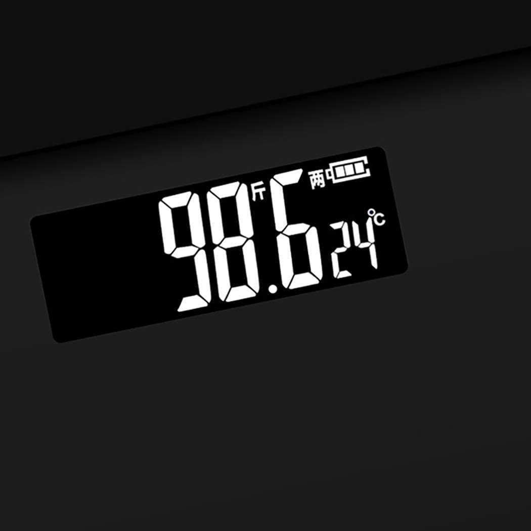 WaWeiY Bilancia Elettronica in Vetro Scala Elettronica in Scala Mini Scala di Peso (Color : Black) Black