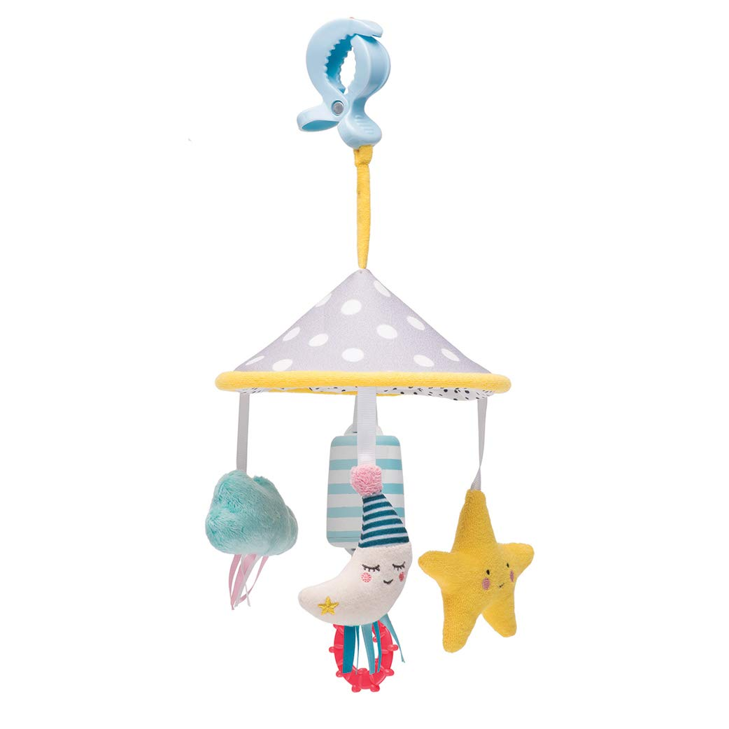 Taf Toys Mini Moon Pram Mobile Play Set | Fits Pram & Stroller, Baby's Entertainment On The Go, Hanging Toys to Keep Baby Happy, Suitable for New-Born, Easier Outdoors, Best Gift
