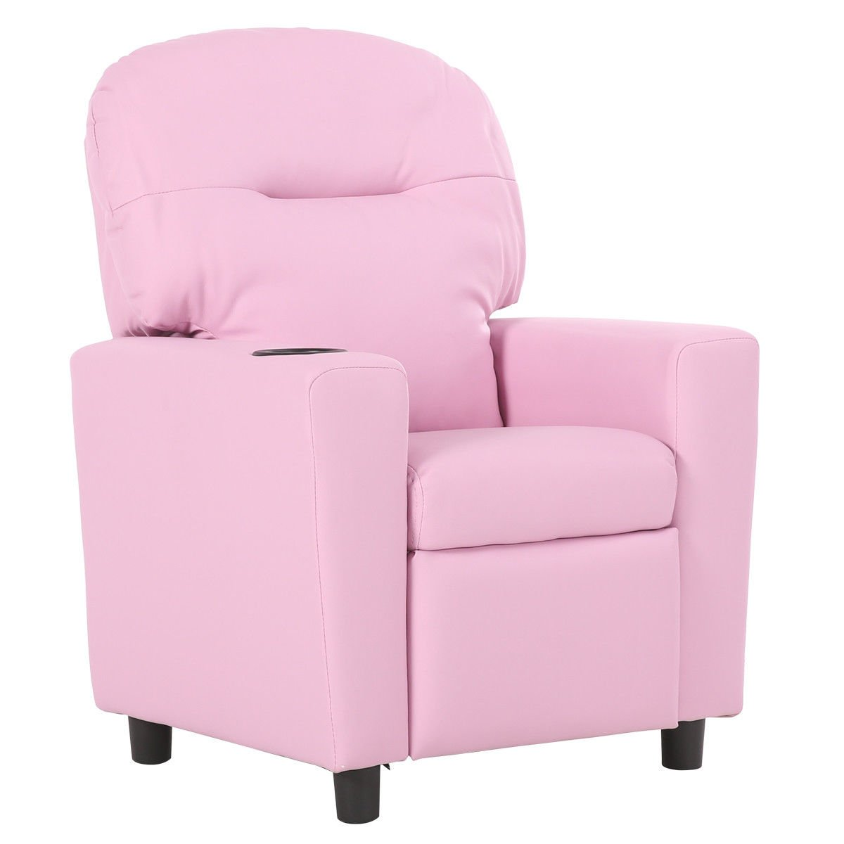 Pink Wood +PU + sponge Kid Armchair With Ebook