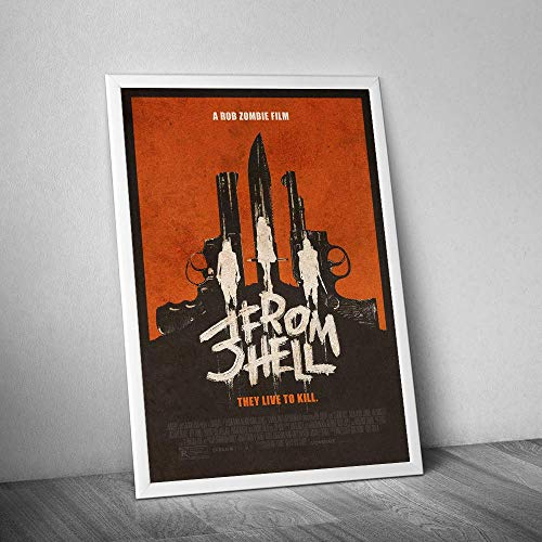 346831247 3 from Hell #rob #Zombie Horror Movie They-Live to Kill - Gifts for Halloween Poster Home Art Wall Art Posters Prints Livingroom Kitchen-Room No Frame (24x36) (Rob Zombie Poster)