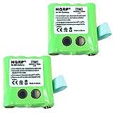 HQRP TWO Batteries for Motorola KEBT-072, KEBT-072-A, KEBT-072-B, M370H1A, BNH370, BATT-8R + HQRP Coaster
