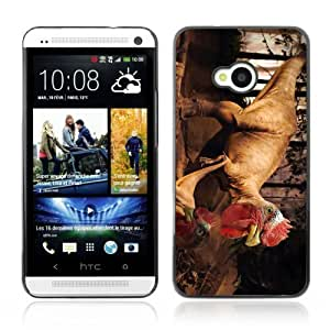 Puerto Rico and USA Mixed Flag Plastic Phone Case Back Cover HTC One M7 Kimberly Kurzendoerfer