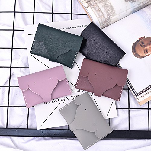 Women's short wallet Summer new women's short wallet Simple and slim female small wallet, green by YIUXB (Image #1)
