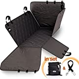 Pet Car Seat Covers For Dogs (1 x Universal Dog Seat Covers – 100% Waterproof) – Back Seat Cover for Pets - Improved Design Dogs Hammock - Pet Car Door Protector Side Flaps for Cars, Trucks and SUVs