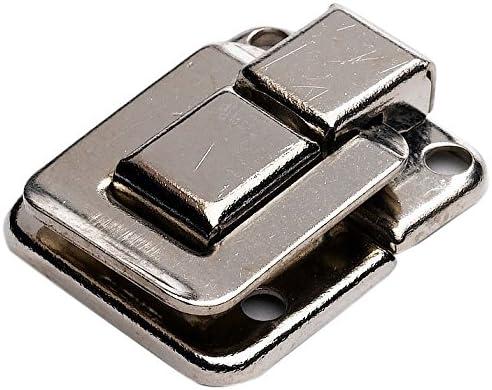 39 x 29 mm Bulk Hardware BH02803 Loqueteau carr/é Nickel/é Set de 2 Pi/èces