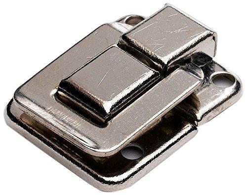 Wei/ß 2 St/ück Vernickelt Bulk Hardware BH02803 Quadratischer Kofferverschluss 39 mm x 29 mm Packung /à 2