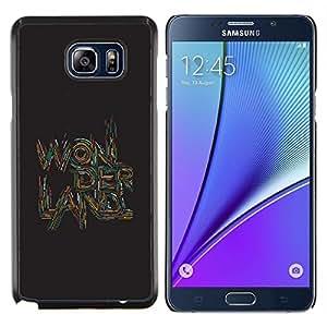 Stuss Case / Funda Carcasa protectora - Citar Citar Texto arte de Brown - Samsung Galaxy Note 5