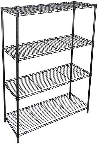 ZENY 4-Shelf Adjustable, Heavy Duty Storage Shelving Unit, Steel Organizer Wire Rack, Storage Rack with Leveling Feet for Kitchen Office Garage