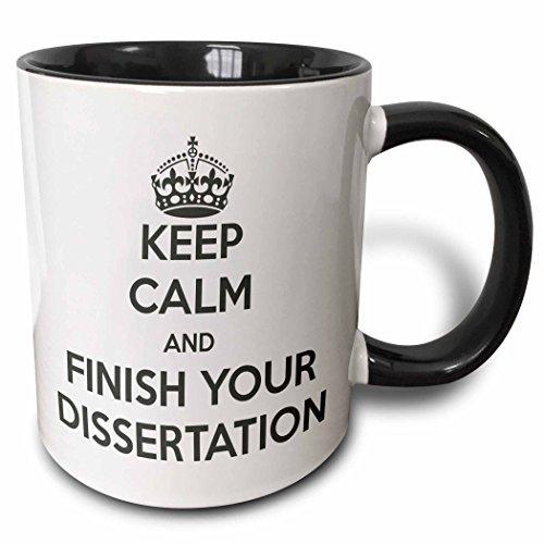 3dRose mug 193304 4 Finish Dissertation White